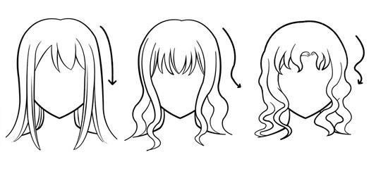 Surprising Basic Manga Hair Tutorial Petshopbox Studio Short Hairstyles Gunalazisus