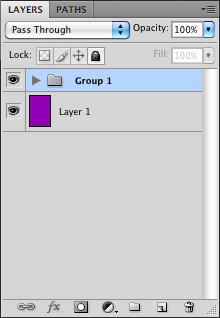 Group selected layers