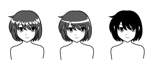 How to Highlight Hair Drawing Hiar Highlight