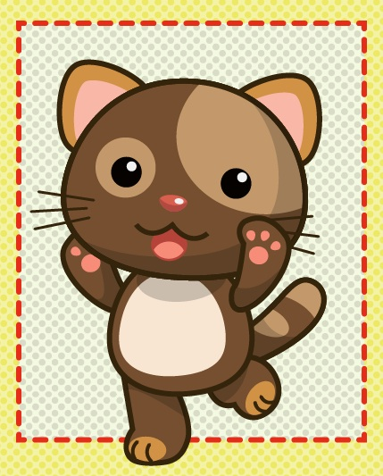 Tutorial how to draw cute brown cat