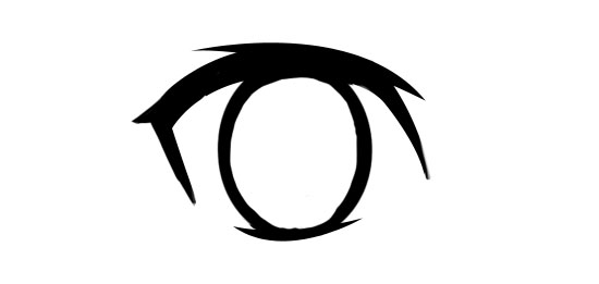 Next Draw The Pupil In Center Of Oval Shape